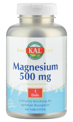 Magnesium Once Daily, 500 mg, 60 T