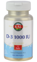 Vitamin D 1000, 100 Weichkapseln